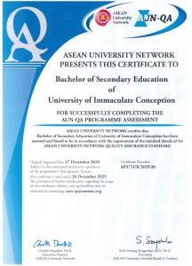 B. Secondary Educ._AUN-QA Certificate