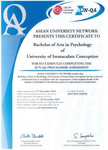 BA Psychology_AUN-QA Certificate