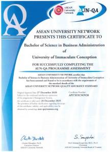 BS Bus. Admin._AUN-QA Certificate